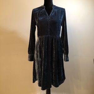 The Elvisette - Blue Velvet Dress